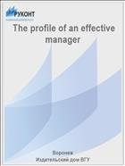 The profile of an effective manager